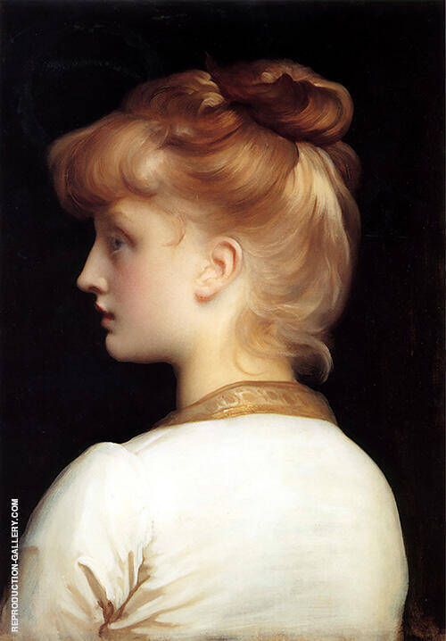 Portrait of a Girl Painting By Frederick Lord Leighton