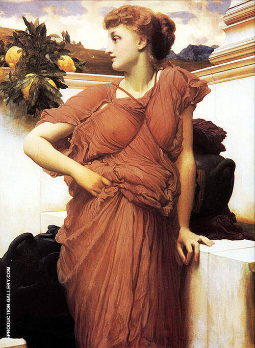At the Fountain Painting By Frederick Lord Leighton - Reproduction Gallery