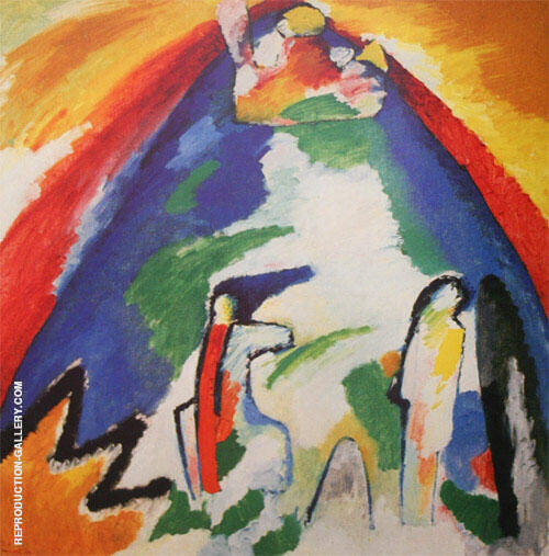 A Mountain 1909 Painting By Wassily Kandinsky - Reproduction Gallery