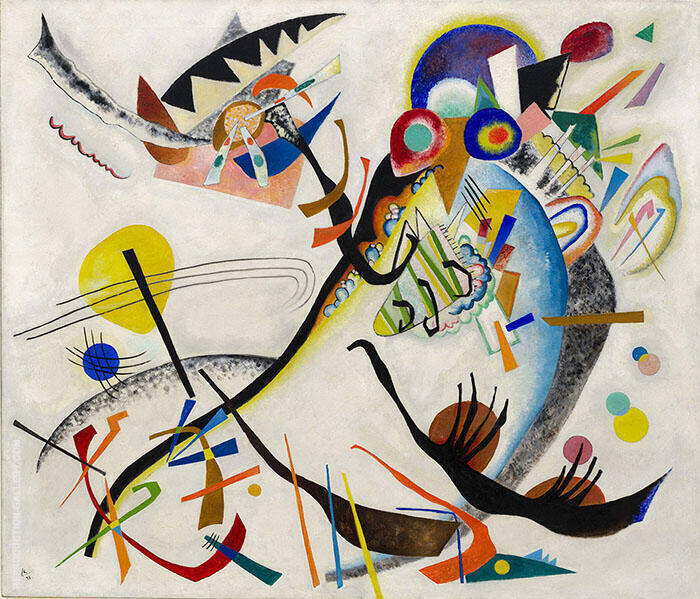 Blue Segment 1921 Painting By Wassily Kandinsky - Reproduction Gallery