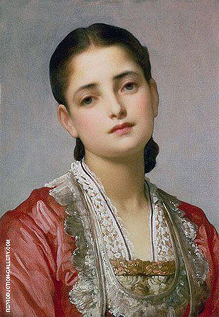 Portrait of Anita Painting By Frederick Lord Leighton