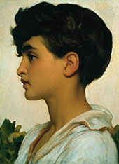 Portrait of Paolo By Frederick Lord Leighton