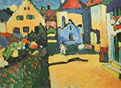 Grungasse in Murnau 1909 By Wassily Kandinsky