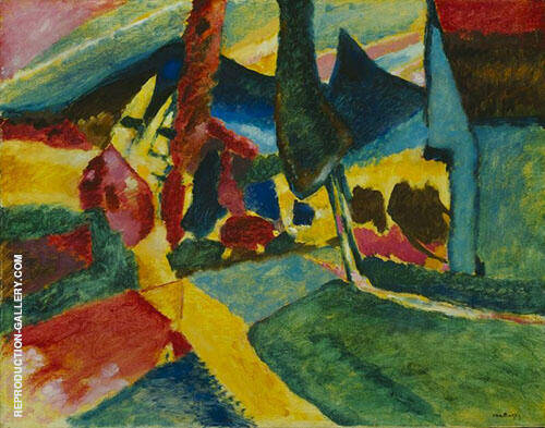 Landscape with Two Poplars 1912 By Wassily Kandinsky