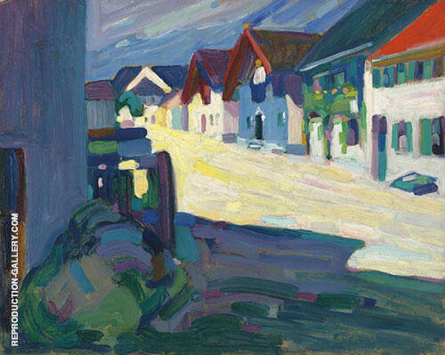 Murnau Street 1908 Painting By Wassily Kandinsky - Reproduction Gallery