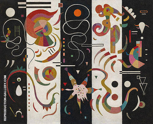 Striped 1934 Painting By Wassily Kandinsky - Reproduction Gallery