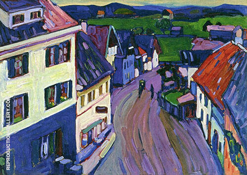 View from The Window of The Griesbrau 1908 Painting By Wassily Kandinsky