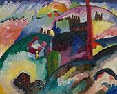 Landscape with Factory Chimney 1910 By Wassily Kandinsky