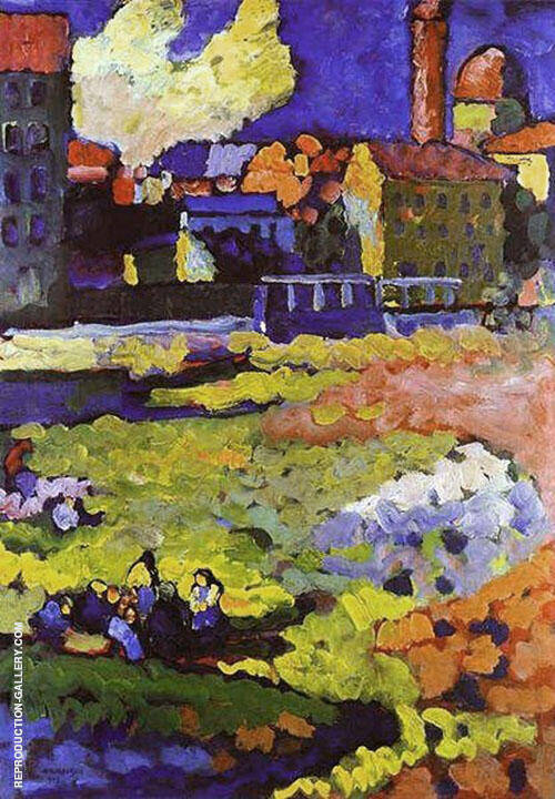 Munich Schwabing with The Church of St Ursula 1908 By Wassily Kandinsky