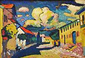 Street in Murnau - A Village Street 1908 By Wassily Kandinsky