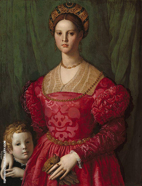 A Young Woman and Her Little Boy 1540 By Agnolo Bronzino
