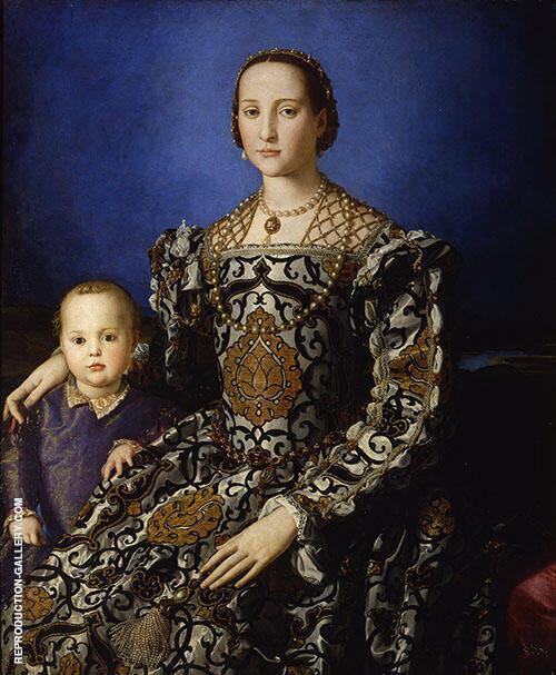 Eleonora di Toledo col Figlio Giovanni 1544 By Agnolo Bronzino