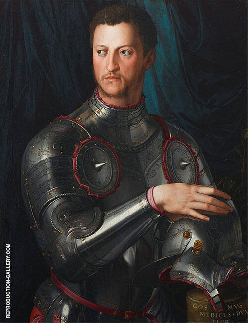 Portrait Cosimo I de Medici in Armour 1545 By Agnolo Bronzino