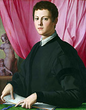 Portrait of a Young Man 1550 By Agnolo Bronzino