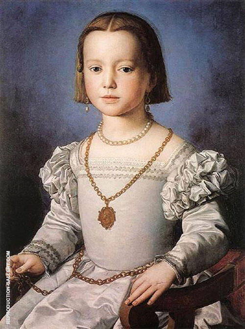 Portrait of Bia de Medici 1545 By Agnolo Bronzino