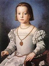 Portrait of Bia de Medici 1545 By Agnolo Bronzino