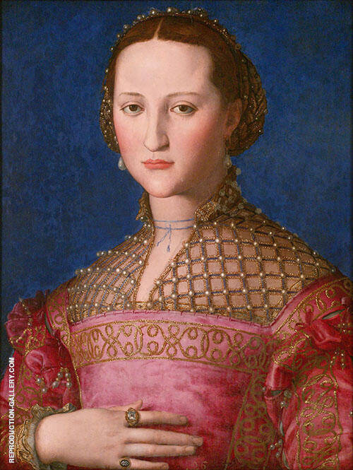 Portrait of Eleonora of Toledo 1539 Painting By Agnolo Bronzino