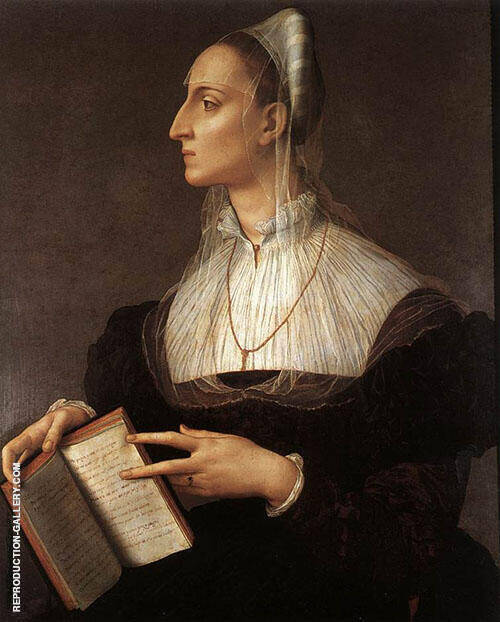 Portrait of Laura Battiferri 1555 By Agnolo Bronzino