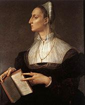 Portrait of Laura Battiferri 1555 By Agnolo Bronzino
