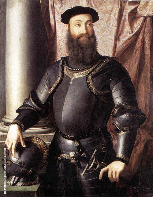 Portrait of Stefano Colonna 1546 By Agnolo Bronzino