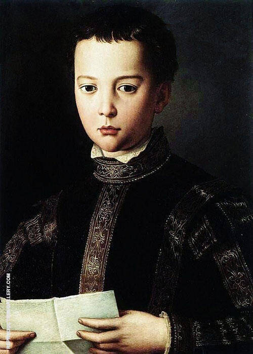 Portrait of Young Man 1560 By Agnolo Bronzino