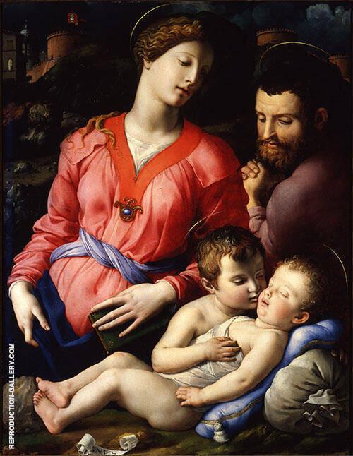 Sacra Famiglia Panciatichi or Madonna Panciatichi 1545 By Agnolo Bronzino