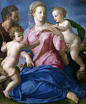 The Holy Family with The Infant Saint John The Baptist Madonna Stroganoff By Agnolo Bronzino