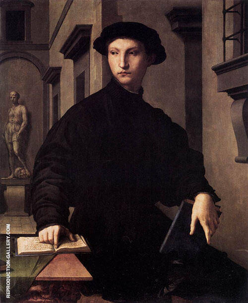 Ugolino Martelli 1537 Painting By Agnolo Bronzino - Reproduction Gallery