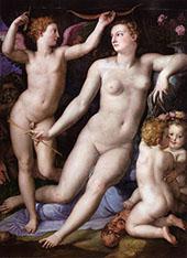 Venus Cupid and Envy 1548 By Agnolo Bronzino