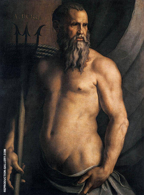 Andrea Doria as Neptune 1550 By Agnolo Bronzino