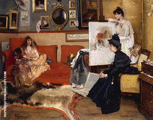 In The Studio 1888 By Alfred Stevens