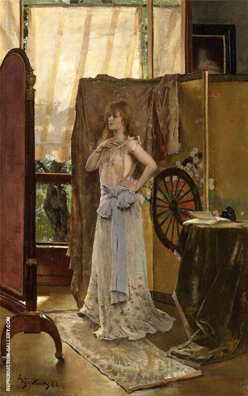 L'Etude du Role 1888 By Alfred Stevens