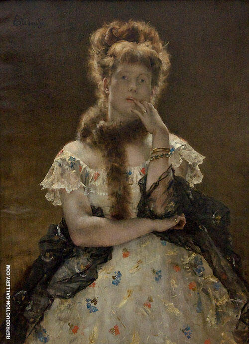 Parisian Lady 1867 By Alfred Stevens