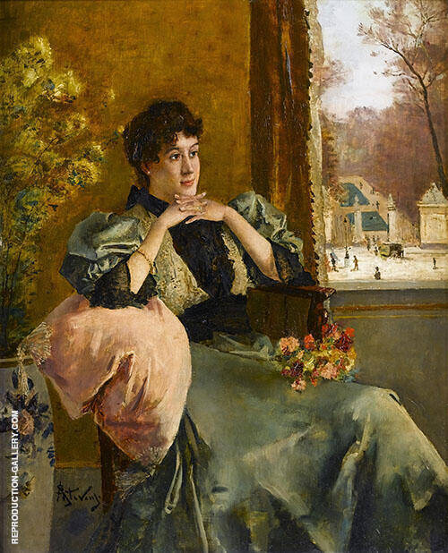 Pensive Woman By Alfred Stevens