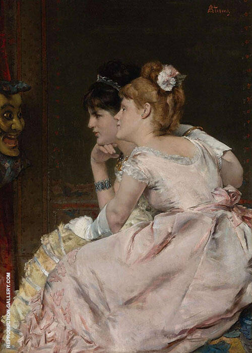 The Japanese Mask 1877 By Alfred Stevens