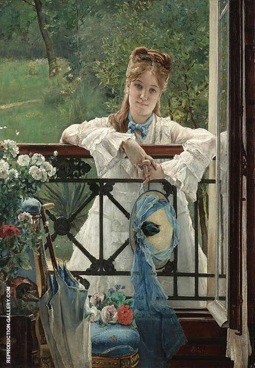 The New Blue Ribbon By Alfred Stevens