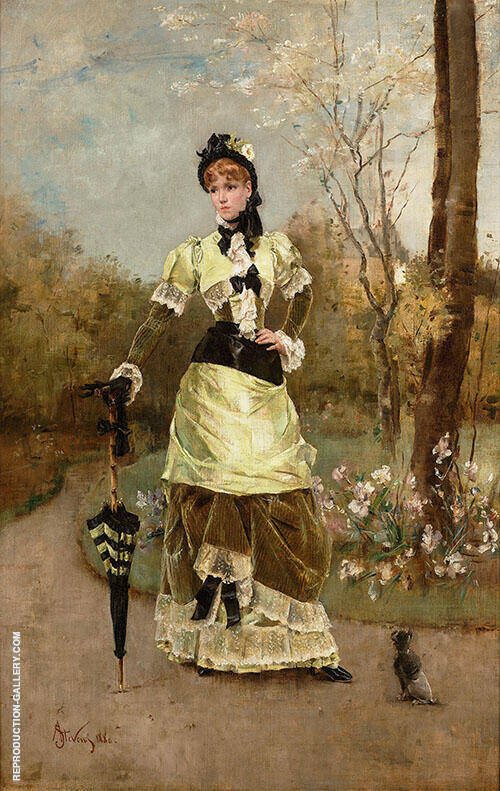 The Parisian 1880 By Alfred Stevens