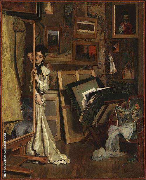 The Psyche My Studio 1871 By Alfred Stevens