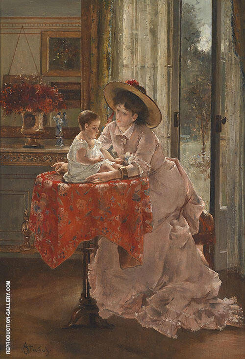 The Sweet Mother By Alfred Stevens