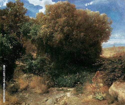 Campagna Landscape Painting By Arnold Brocklin - Reproduction Gallery