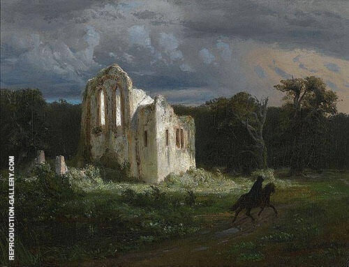 Moonlit Landscape 1849 By Arnold Brocklin
