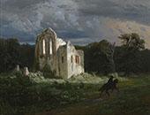 Moonlit Landscape 1849 By Arnold Brocklin
