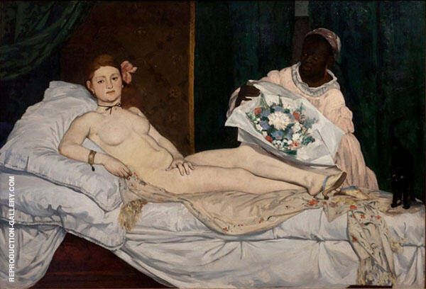 Olympia 1863 Painting By Edouard Manet - Reproduction Gallery