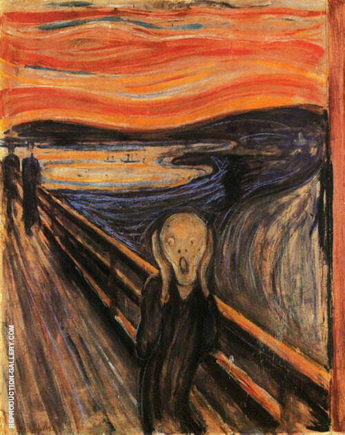 The Scream 1893 By Edvard Munch