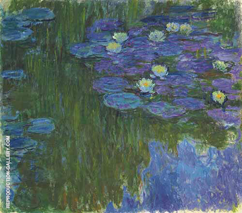 Nympheas en Fleur Painting By Claude Monet - Reproduction Gallery
