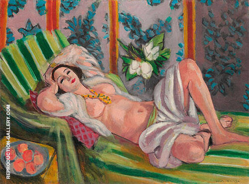 Odalisque Couchee aux Magnolias 1923 By Henri Matisse