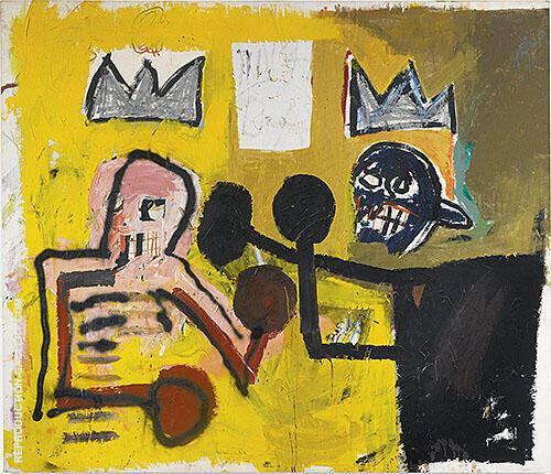 World Crown By Jean-Michel-Basquiat