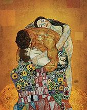 Family Embrace By Gustav Klimt