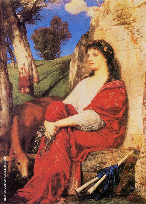 The Muse Euterpe By Arnold Brocklin