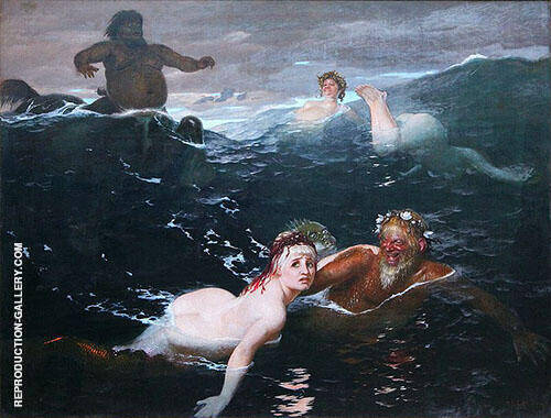 Playing in The Waves 1883 By Arnold Brocklin